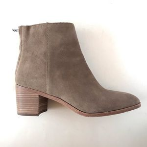 Madewell Pauline Suede Ankle Bootie Gray